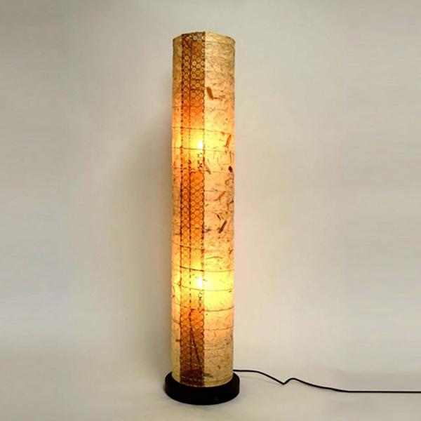 日本製和紙照明 巻き塔型フロアライト バナナ紙【送料無料】【int_d11】