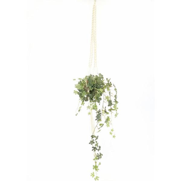 GREENPARK シュガーバイン/マクラメハンギング(造花) 室内装飾品 花 グリ-ン ア-トアレンジ花 PRGR-0820(代引不可)【int_d11】