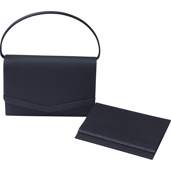 「シルク印伝」使い 日本製フォーマルバッグ(袱紗付) ブラック カバン バッグフォ-マル ハンドバッグ G14-132-131(代引不可)【送料無料】