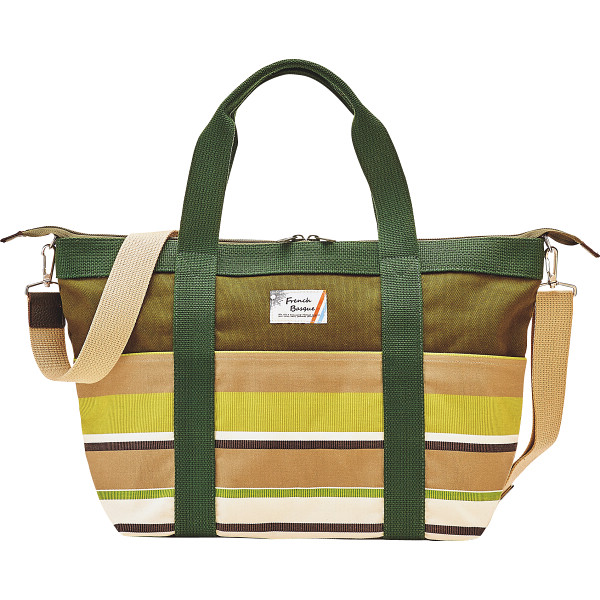 フレンチバスク 2WAYラージトートバッグ グリーン フレンチバスク カバン バッグカジュアル BSQ85150-G(代引不可)【送料無料】