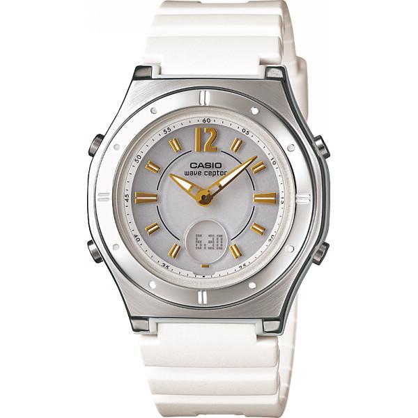 CASIO カシオ ソーラー電波レディース腕時計 ホワイト 装身具 婦人装身品 婦人腕時計 LWA-M142-7AJF(代引不可)【送料無料】