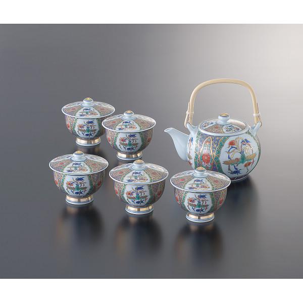 古伊万里様式 鳳凰 番茶器揃 和陶器 和陶茶器 蓋付土瓶茶器 01880(代引不可)【送料無料】