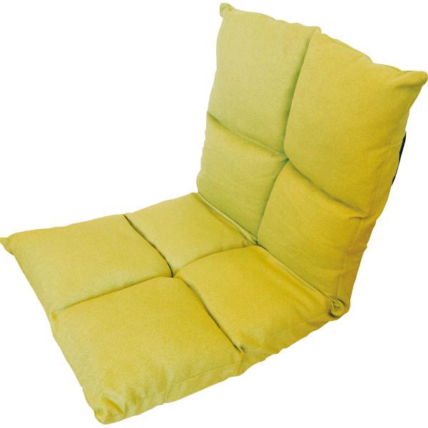 高反発フリーリクライニング座椅子 グリーン 木製品 家具 ソファ 座椅子 肘なし座椅子 KPGCR-168GR(代引不可)【送料無料】