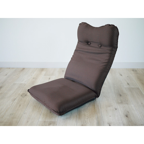 ズレ落ち防止加工折りたたみ座椅子 ブラウン 木製品 家具 ソファ 座椅子 肘なし座椅子 TT-05BR(代引不可)【送料無料】