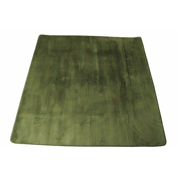マイクロファイバーラグ 185×185 グリーン 室内繊維 マット カ-ペット センタ-ラグ PG-010(代引不可)【送料無料】