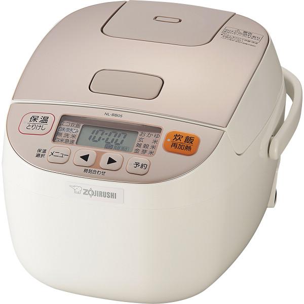 象印 マイコン炊飯ジャー(3合) シャンパンホワイト 極め炊き 電化製品 電化製品調理機器 炊飯器 NL-BB05-WM(代引不可)
