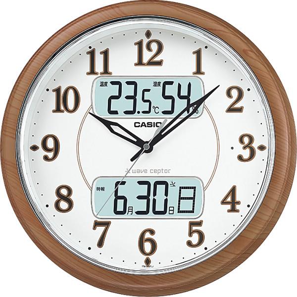 カシオ 電波掛時計 室内装飾品 掛け時計 振り子無し丸型時計 ITM‐900FLJ‐5JF(代引不可)【送料無料】