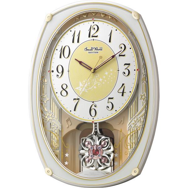 スモールワールド スモールワールド メロディ電波掛時計(30曲入) 室内装飾品 掛け時計 振り子付時計 4MN542RH03(代引不可)