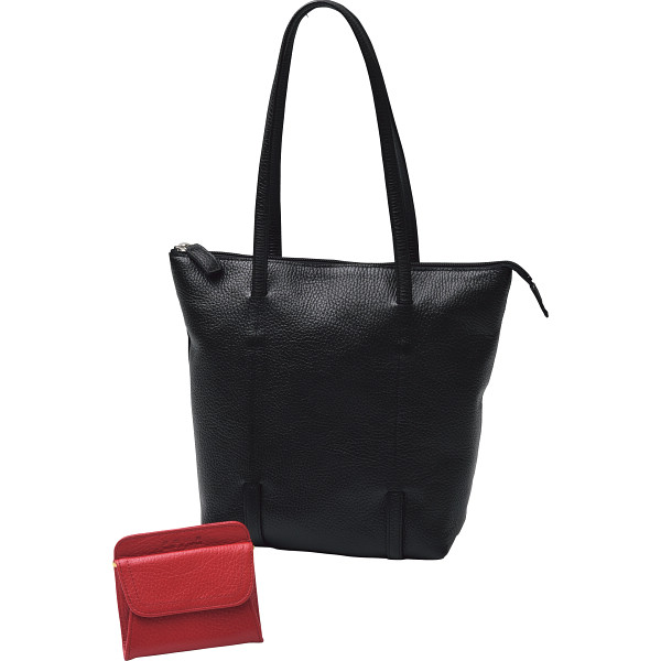 良品工房 日本製牛革トートバッグ 財布セット 良品工房 カバン バッグカジュアル 婦人ショルダ- B101B-32(代引不可)【送料無料】