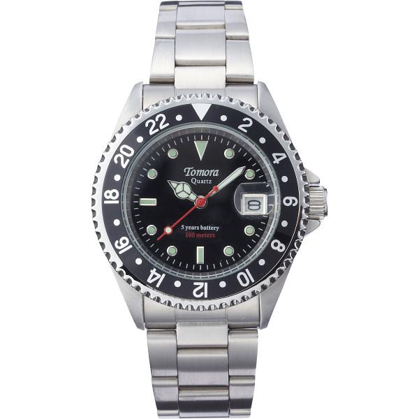 トモラ ダイバーメンズ腕時計 ブラック 装身具 紳士装身品 紳士腕時計 TO-028MB-T2(代引不可)【送料無料】