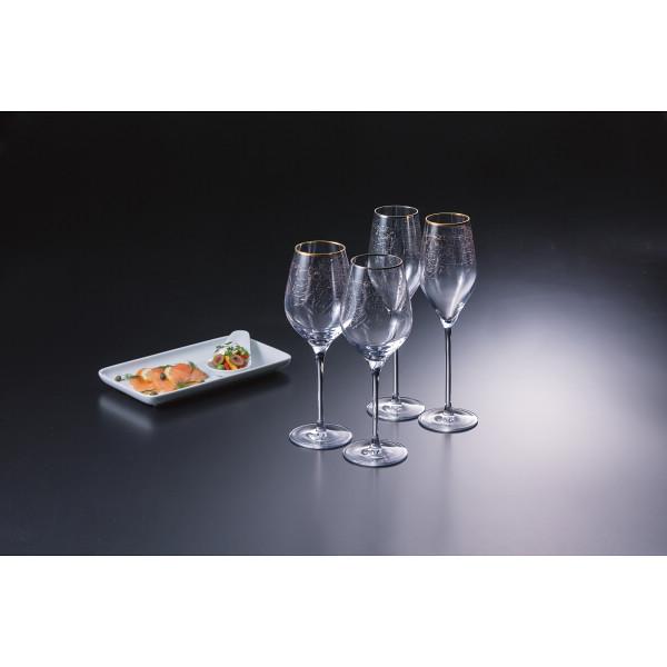 シュトルツル アラベスクフィオーリ ペアワイン シャンパングラスセット ガラス製品 ガラスカップ ワインセット ST1670(代引不可)【送料無料】