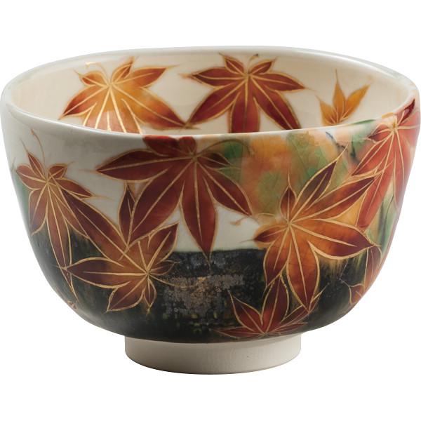 清水焼 通天紅葉 抹茶碗 和陶器 T90‐014(代引不可)【送料無料】