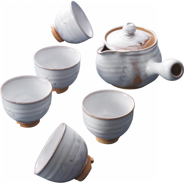萩焼 白釉 茶器揃 和陶器 和陶茶器 急須茶器 05764(代引不可)【送料無料】
