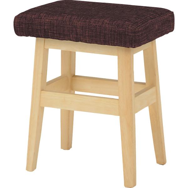 スツール 2脚セット ブラウン 木製品 家具 ソファ 座椅子 VH-7943BRS(代引不可)【送料無料】