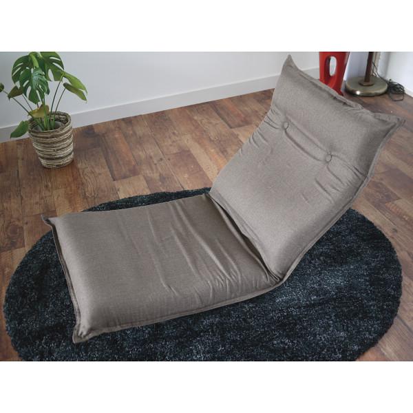低反発リクライニングフロアチェア ブラウン 木製品 家具 ソファ 座椅子 肘なし座椅子 SS-4BR(代引不可)【送料無料】