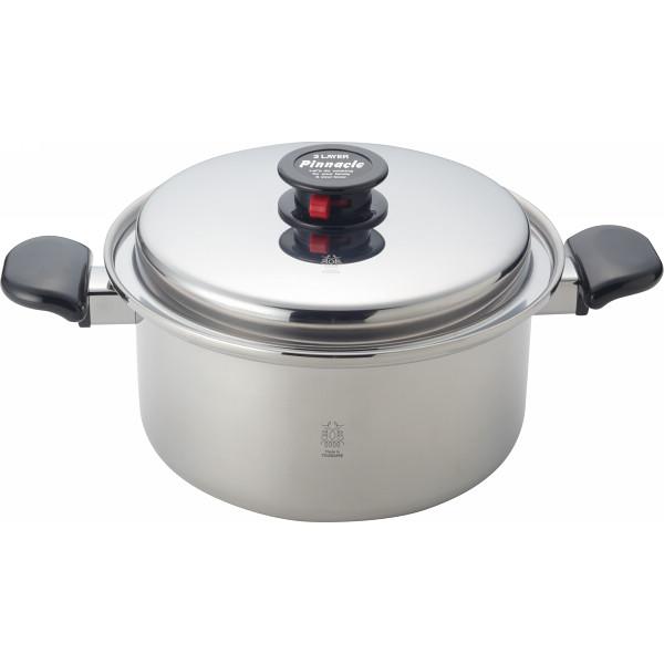 三層鋼深型両手鍋(24 cm ) 鍋ケトルフライパン ステンレス鍋 両手鍋 SR-001(代引不可)