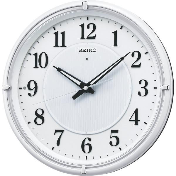 セイコー 針発光電波掛時計 室内装飾品 掛け時計 振り子無し丸型時計 KX393W(代引不可)【送料無料】