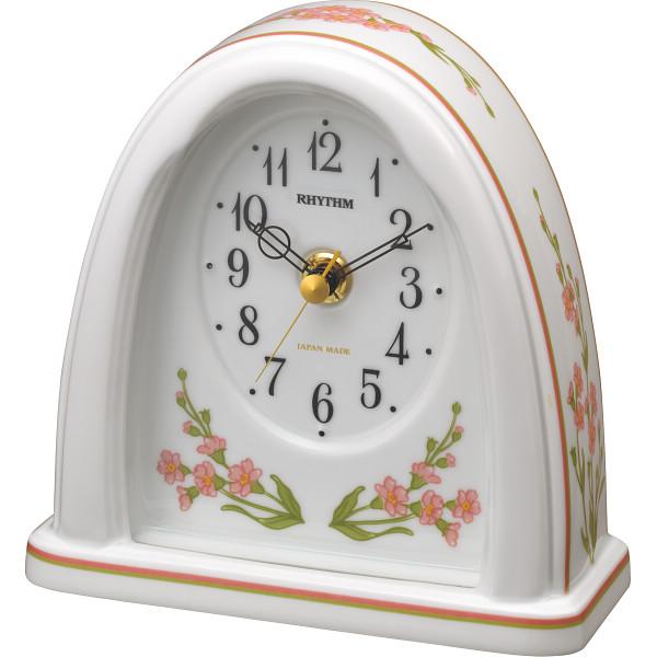 リズム 有田焼 置時計 室内装飾品 置き時計 目覚し重視時計 8RG623SR13(代引不可)