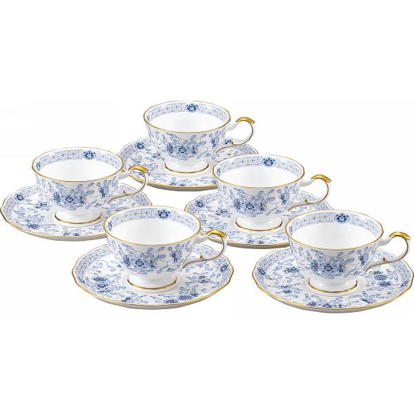 ナルミ ミラノ ティー碗皿5客セット 洋陶器 洋陶コーヒー コーヒー 碗皿セット 9682‐21734(代引不可)【送料無料】