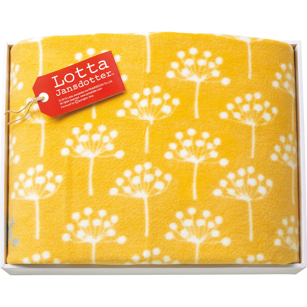 ロッタ シルク混綿毛布(毛羽部分) イエロー 寝装品 毛布 綿毛布 LJ-25001(代引不可)