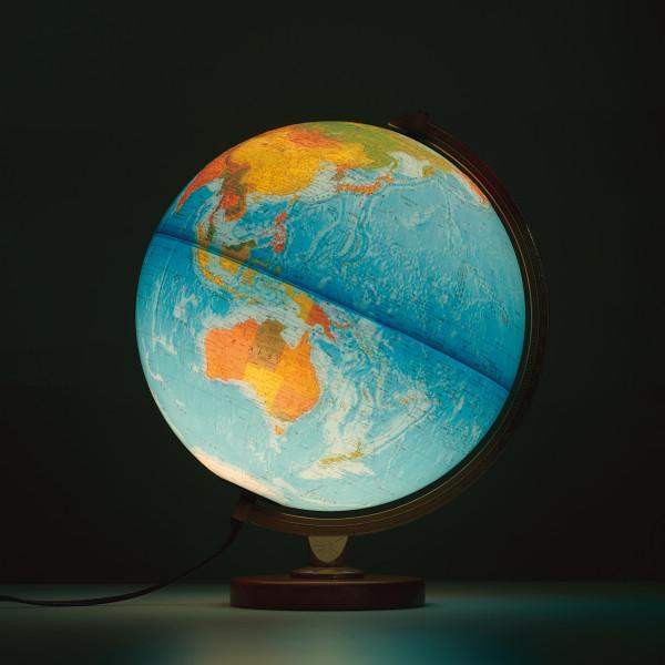 リプルーグル リプルーグル地球儀 リビングストン型 日本語版 ブルー ワールド ホライズン 文具 地球儀 天球儀 86578(代引不可)【送料無料】