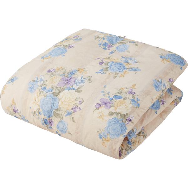 羽毛肌掛けふとん(増量タイプ) サックス 寝装品 布団 ケット 肌布団 1342-54465(代引不可)