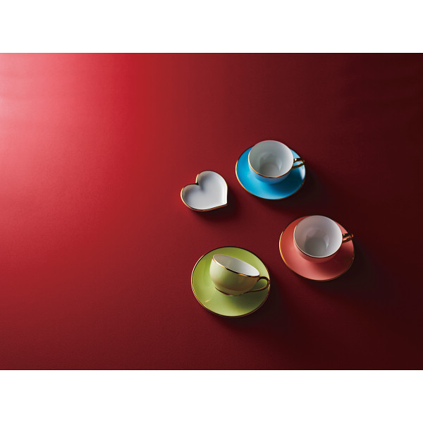 レッグ ジャズアップ ティーカップ ソーサー3客セット ハートプレート付 洋陶器 洋陶コーヒー マグカップセット LE211(代引不可)【送料無料】