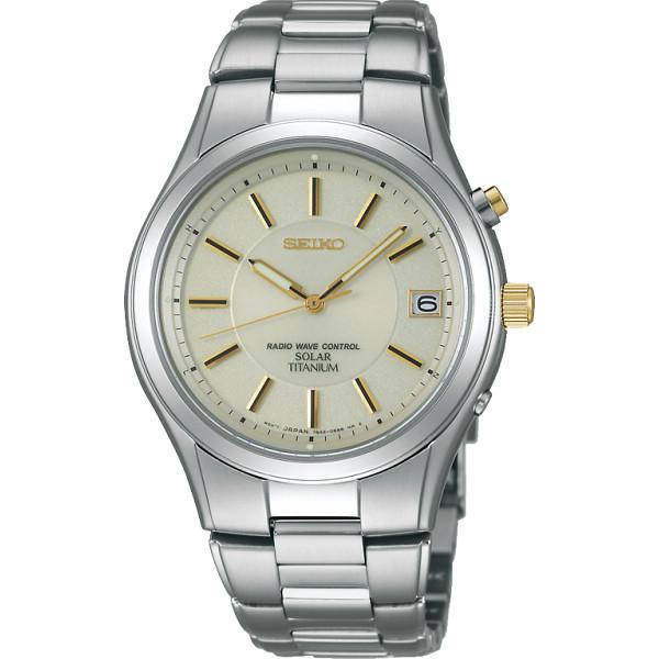 セイコー チタンソーラー電波 メンズ腕時計 ゴールド セイコー 装身具 紳士装身品 紳士腕時計 SBTM199(代引不可)【送料無料】
