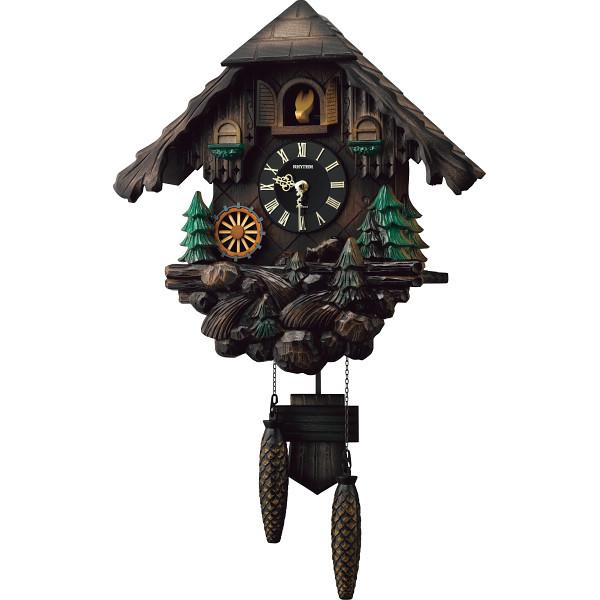 リズム カッコー時計 室内装飾品 掛け時計 振り子無し丸型時計 4MJ422SR06(代引不可)【送料無料】