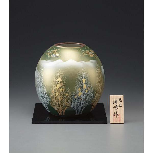 九谷焼 金箔彩木立鶴連山 7号花瓶 130543(代引不可)