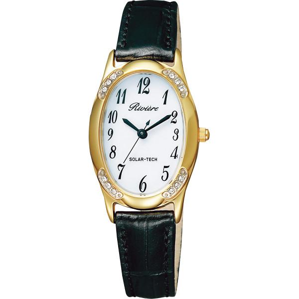 リビエール ソーラーレディース腕時計 ゴールド 装身具 婦人装身品 婦人腕時計 KH1-212-10(代引不可)【ポイント10倍】