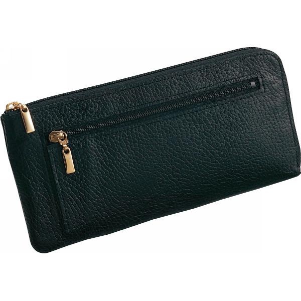 良品工房 日本製牛革ラウンド財布 ブラック 良品工房 カバン 財布 札束入れ B0110-200B(代引不可)