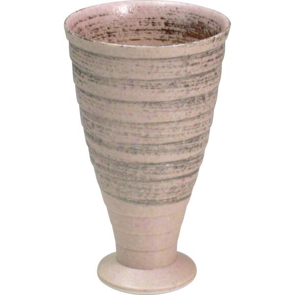 陶悦窯 雅刷毛 ゴブレット 銀カラー 和陶器 和陶バラエティー ビールカップジョッキ(代引不可)