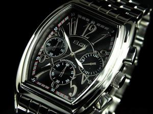 エルジン ELGIN 腕時計 時計 クロノグラフ メンズ FK1215S-B