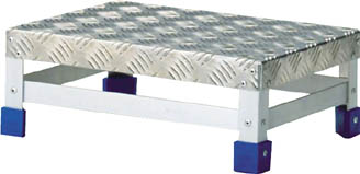 TRUSCO ステップ アルミ製・縞板タイプ 600X400XH150【TFS-1564】(はしご・脚立・足場ステージ)