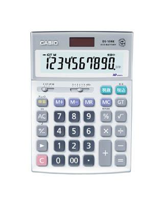 カシオ 検算電卓(デスクタイプ)【DS-10WK】(OA・事務用品・電卓)
