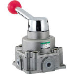 CKD 手動切換弁【HMVC2-8-4H】(空圧・油圧機器・切替弁)