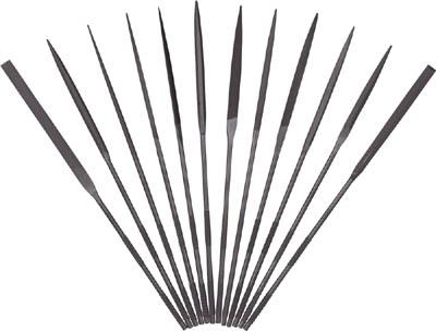ツボサン 精密ヤスリ 12本組セット【ST01256T】(研削研磨用品・ヤスリ)