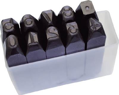 TRUSCO 数字刻印セット 10mm【SK-100】(ハンマー・刻印・ポンチ・刻印)