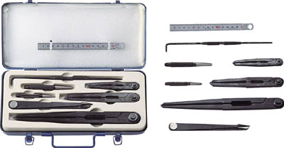 TRUSCO 超硬チップ付工具 8本セット【TK-8】(測定工具・ケガキ用品)