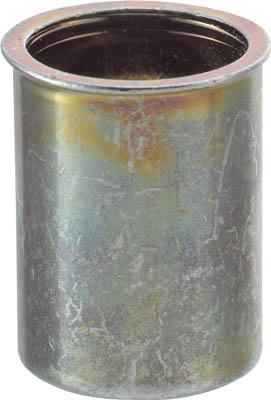 TRUSCO クリンプナット薄頭スチール 板厚1.5 M4X0.7 1000入【TBNF-4M25S-C】(ファスニングツール・ブラインドナット)
