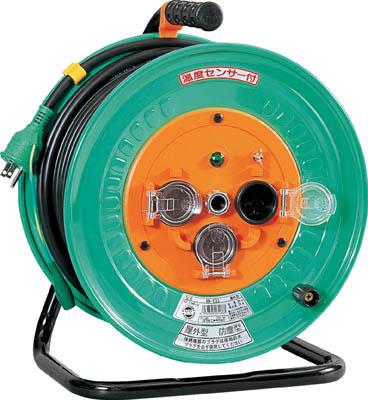 日動 電工ドラム 防雨防塵型100Vドラム アース付 30m【NW-E33】(コードリール・延長コード・コードリール防雨型)
