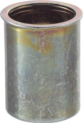TRUSCO クリンプナット薄頭スチール 板厚2.5 M5X0.8 1000入【TBNF-5M25S-C】(ファスニングツール・ブラインドナット)