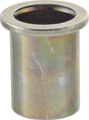 TRUSCO クリンプナット平頭スチール 板厚1.5 M4X0.7 1000入【TBN-4M15S-C】(ファスニングツール・ブラインドナット)