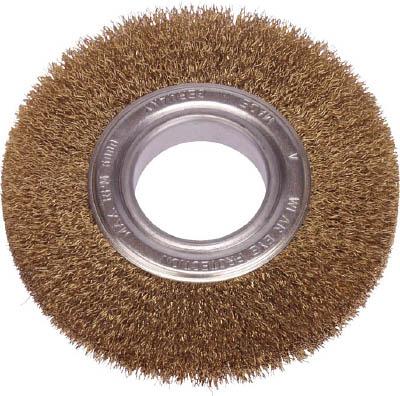 LESSMANN ホイルブラシ 200mm 0.2 真鍮線 366543【S1】