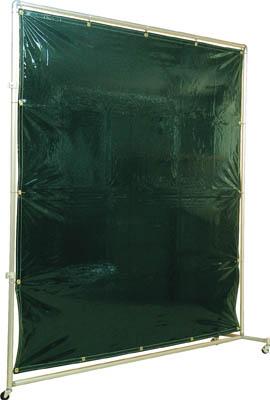 吉野 遮光フェンスアルミパイプ 1×2 接続キャスター ダークグリーン【YS-12JC-DG】(溶接用品・溶接遮光フェンス)