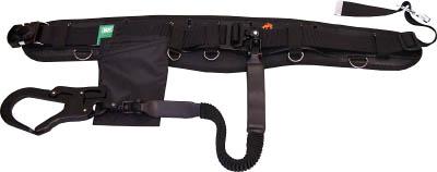 KH フムヘム補助帯付安全帯 ジャバラ駕王 剣フック 自在環 アロッキー 黒-黒 HGKLHK