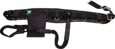 KH KIC補助帯付安全帯 ジャバラ駕王 剣フック 自在環 アロッキー 黒-黒 HGKLKC