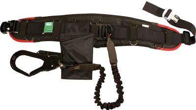 KH エアー式補助帯付安全帯 ジャバラ式 タフアルミ 自在環 アロッキー 黒/緋 HWKLKR