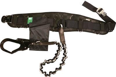 KH 龍牙補助帯付安全帯 ジャバラタフアルミ自在環アロッキー 黒/反射 HWSLRY